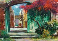 Alim Adilov festmény - Kijárat a Városba