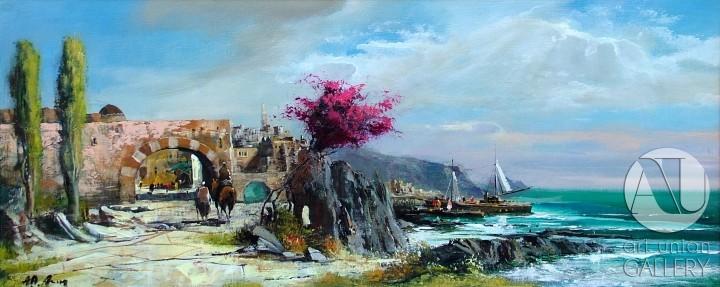 Alim Adilov festmény - Hazatérés